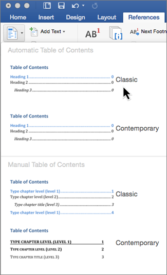 Word for writers part 15 adding and updating a table of for Word 2013 table of contents template